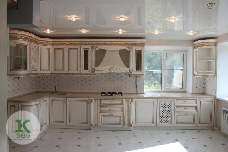 Кухня белая с золотом Морела артикул: 170528