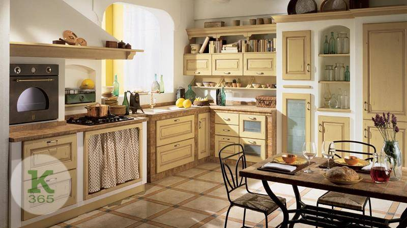 Кухня с открытыми полками Турин Квадро артикул: 363805
