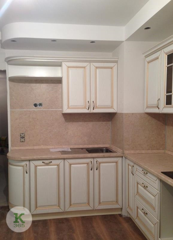 Кухня белая с золотом Елена артикул: 000372710
